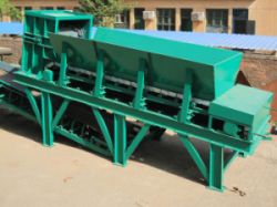 bag-breaking and waste-distributing machine