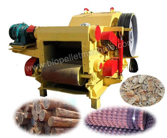 Wood Chipper for Wood Logs & Agricultural Stalks Shredding
